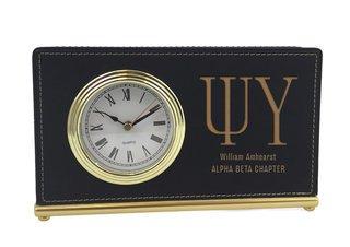 Psi Upsilon Horizontal Desk Clock