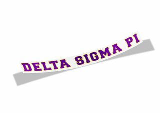 Delta Sigma Pi Long Window Sticker