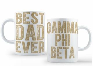 Gamma Phi Beta Best Dad Ever Coffee Mug