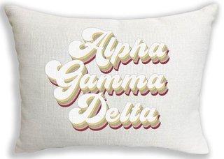 Alpha Gamma Delta Retro Throw Pillow