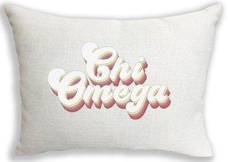 Chi Omega Retro Throw Pillow