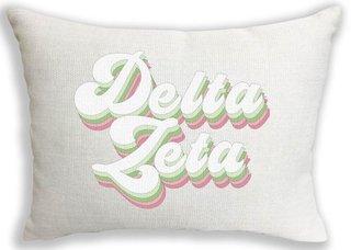 Delta Zeta Retro Throw Pillow