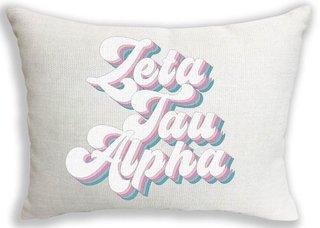 Zeta Tau Alpha Retro Throw Pillow