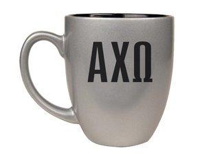 Alpha Chi Omega Letters Engraved Bistro Mug