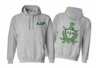 Alpha Delta Phi World Famous Crest - Shield Printed Hooded Sweatshirt- $35!
