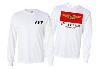 Alpha Eta Rho Flag Long Sleeve T-shirt - Comfort Colors
