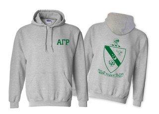 Alpha Gamma Rho World Famous Crest - Shield Printed Hooded Sweatshirt- $35!