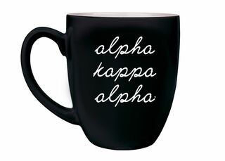 Alpha Kappa Alpha Stacked Script Bistro Mug