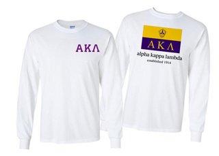 Alpha Kappa Lambda Flag Long Sleeve T-shirt