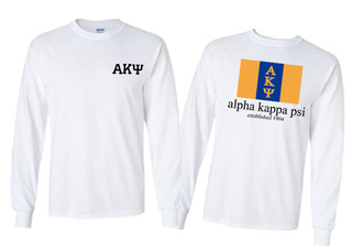 Alpha Kappa Psi Flag Long Sleeve T-shirt - Comfort Colors