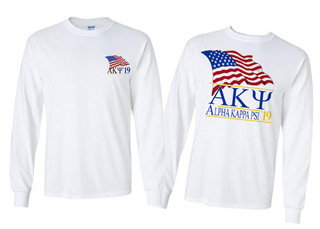 Alpha Kappa Psi Patriot Limited Edition Long Tee- $20!