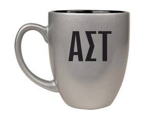 Alpha Sigma Tau Letters Engraved Bistro Mug