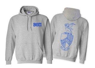 Beta Theta Pi World Famous Crest - Shield Printed Hooded Sweatshirt- $35!