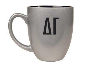 Delta Gamma Letters Engraved Bistro Mug