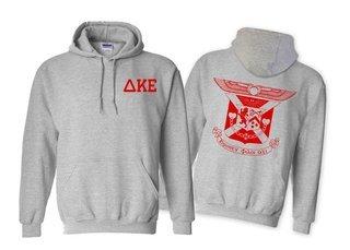 Delta Kappa Epsilon World Famous Crest - Shield Printed Hooded Sweatshirt- $35!