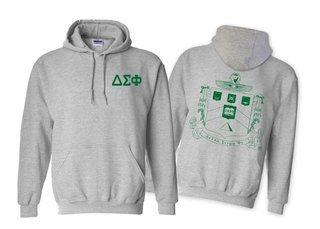 Delta Sigma Phi World Famous Crest - Shield Hooded Sweatshirt- $35!