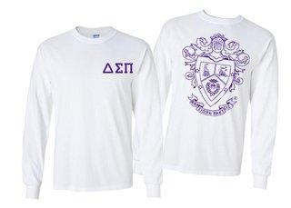 Delta Sigma Pi World Famous Crest - Shield Long Sleeve T-Shirt- $19.95!