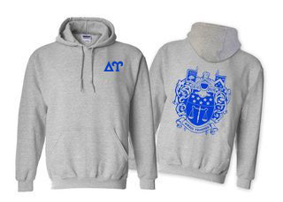 Delta Upsilon World Famous Crest - Shield Hooded Sweatshirt- $35!