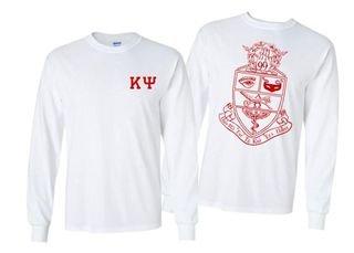 Kappa Psi World Famous Crest - Shield Long Sleeve T-Shirt- $19.95!