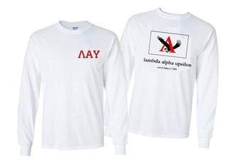 Lambda Alpha Upsilon Flag Long Sleeve T-shirt