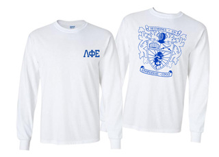 Lambda Phi Epsilon World Famous Crest - Shield Long Sleeve T-Shirt- $19.95!