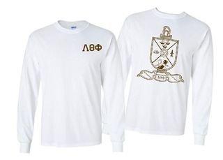 Lambda Theta Phi World Famous Crest - Shield Long Sleeve T-Shirt- $19.95!