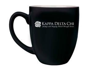 Kappa Delta Chi Logo Engraved Bistro Mug