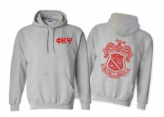 Phi Kappa Psi World Famous Crest - Shield Hooded Sweatshirt- $35!