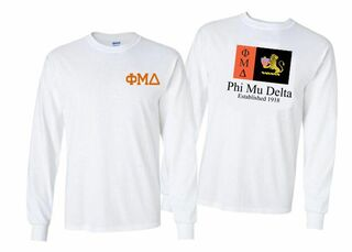 Phi Mu Delta Flag Long Sleeve T-shirt
