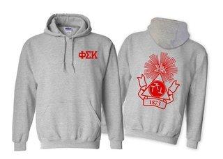 Phi Sigma Kappa World Famous Crest - Shield Printed Hooded Sweatshirt- $35!