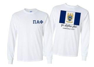 Pi Alpha Phi Flag Long Sleeve T-shirt - Comfort Colors