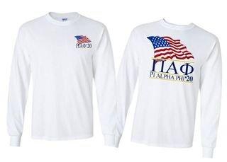 Pi Alpha Phi Patriot Long Sleeve T-shirt - Comfort Colors