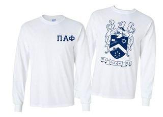 Pi Alpha Phi World Famous Crest - Shield Long Sleeve T-Shirt- $19.95!