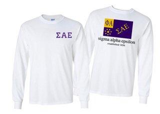 Sigma Alpha Epsilon Flag Long Sleeve T-shirt