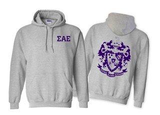 Sigma Alpha Epsilon World Famous Crest - Shield Hooded Sweatshirt- $35!