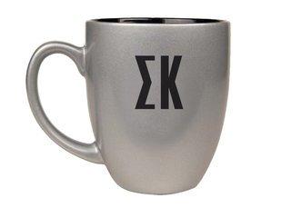Sigma Kappa Letters Engraved Bistro Mug