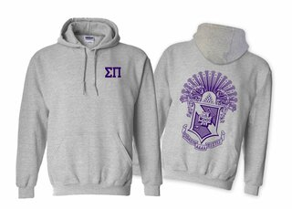 Sigma Pi World Famous Crest - Shield Hooded Sweatshirt- $35!