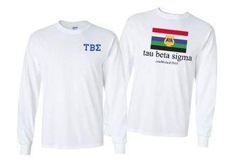 Tau Beta Sigma Flag Long Sleeve T-shirt