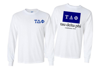 Tau Delta Phi Flag Long Sleeve T-shirt