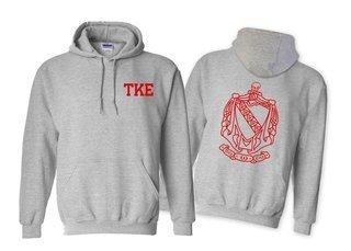 Tau Kappa Epsilon World Famous Crest - Shield Printed Hooded Sweatshirt- $35!