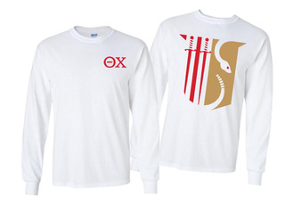 Theta Chi World Famous Crest - Shield Long Sleeve T-Shirt- $19.95!