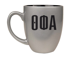 Theta Phi Alpha Letters Engraved Bistro Mug