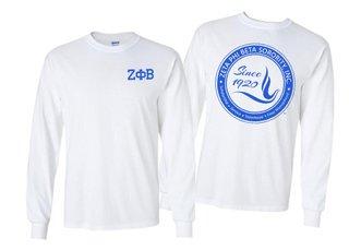 Zeta Phi Beta World Famous Crest - Shield Long Sleeve T-Shirt- $19.95!