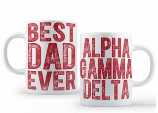 Alpha Gamma Delta Best Dad Ever Coffee Mug