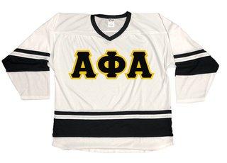 DISCOUNT-Alpha Phi Alpha Breakaway Lettered Hockey Jersey
