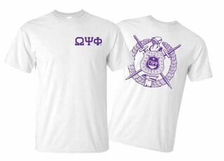Omega Psi Phi World Famous Crest - Shield Tee