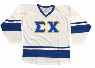 DISCOUNT-Sigma Chi Breakaway Lettered Hockey Jersey