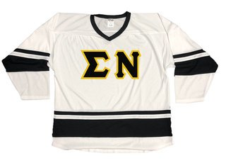 DISCOUNT-Sigma Nu Breakaway Lettered Hockey Jersey