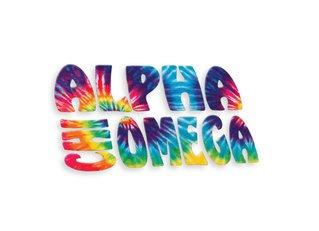 Alpha Chi Omega Tie-Dye Stack Sticker
