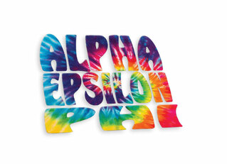Alpha Epsilon Phi Tie-Dye Stack Sticker